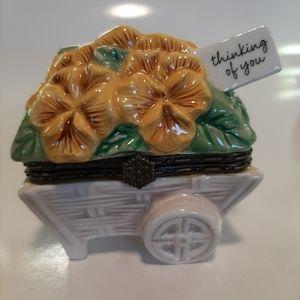 HALLMARK PANSY TRINKET BOX
